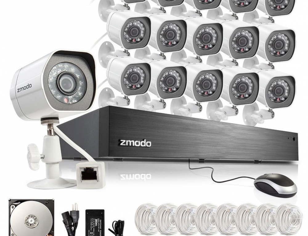16 Channel HD NVR CCTV Security System with 16x 720P HD IP Cameras by Zmodo