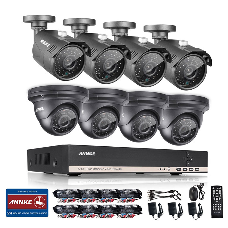 ANNKE 8-Channel HD 1080N Video Security System DVR
