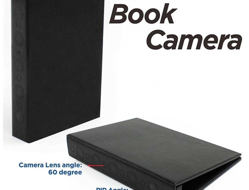 Book Spy Camera with Night Vision and Motion Activated Recording by Conbrov DV9