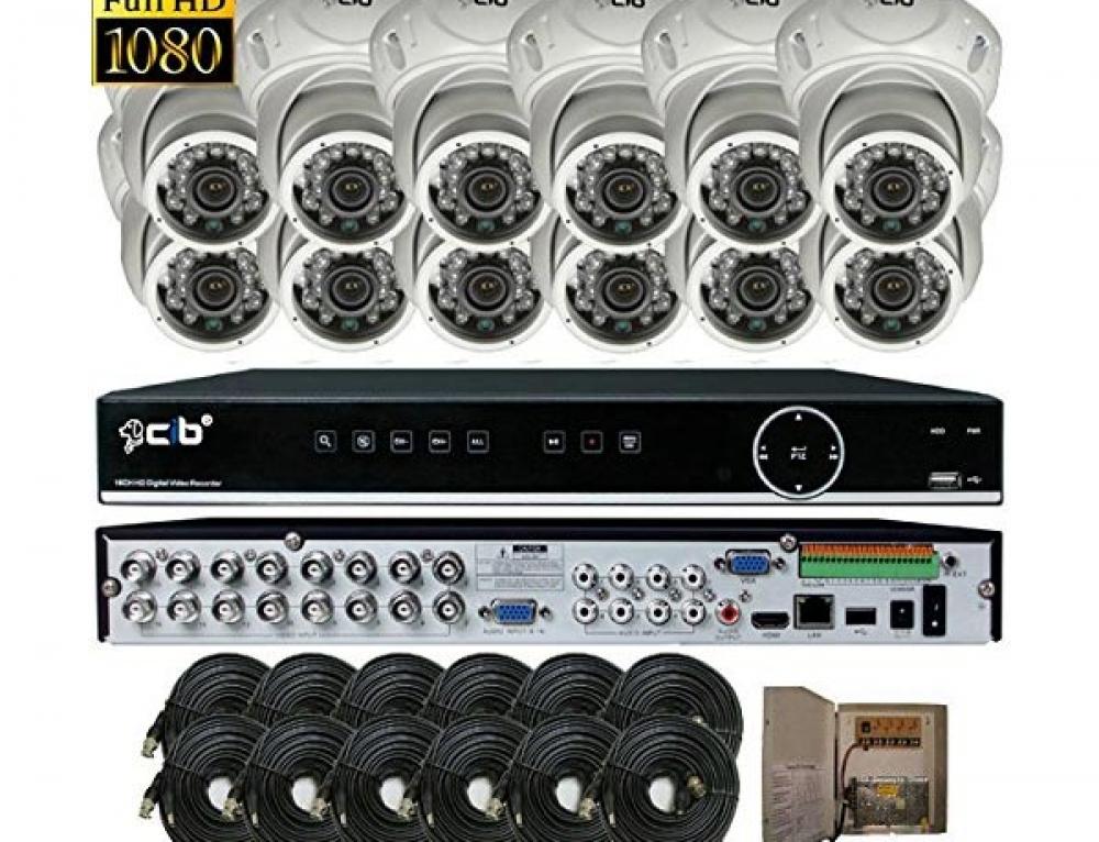 CIB True HD 16 Channel DVR with 12X Dome Color Cameras