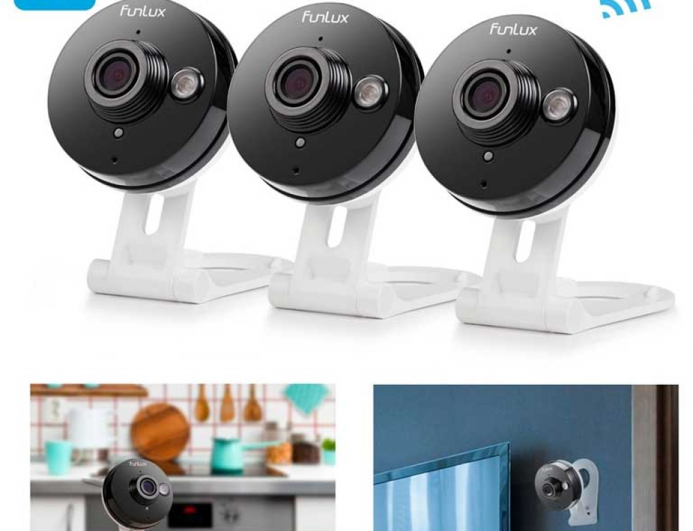 (3) Camera Wireless Surveillance CCTV System by Funlux
