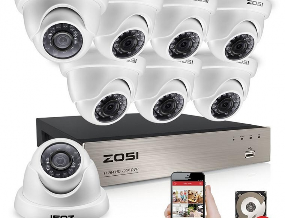 Affordable 8CH HD-TVI DVR by ZOSI with 8x 720P CCTV Cameras + 1TB HDD
